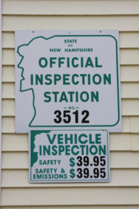 Official Inspection Station sign